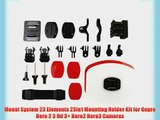 Mount System 23 Elements 23in1 Mounting Holder Kit for Gopro Hero 2 3 Hd 3  Hero2 Hero3 Cameras