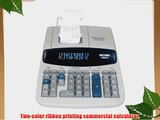 Victor 15606 - 1560-6 Two-Color Ribbon Printing Calculator 12-Digit Fluorescent Black/Red-VCT15606