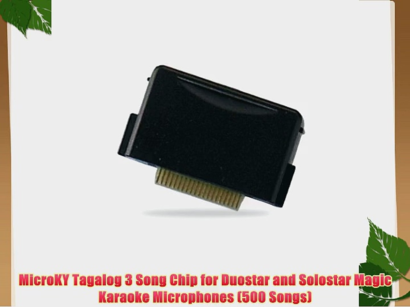 MicroKY Tagalog 3 Song Chip for Duostar and Solostar Magic Karaoke  Microphones (500 Songs)