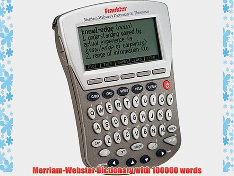 Franklin Merriam -Webster Dictionary