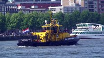 """Cruise ships """"Rotterdam"""" and """"Ryndam"""" horn blowing and turning in Rotterdam Port on June 26, 2011"""
