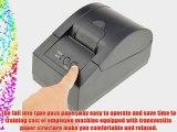 NEEWER? Serial/parallel/USB/LAN POS Receipt Thermal Printer with 58mm Paper Rolls Rack Wheel