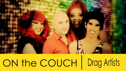 On the Couch Donnarama, Nikki Chin, and Jade Elektra (with Michelle DuBarry and Titus Androgynous.)