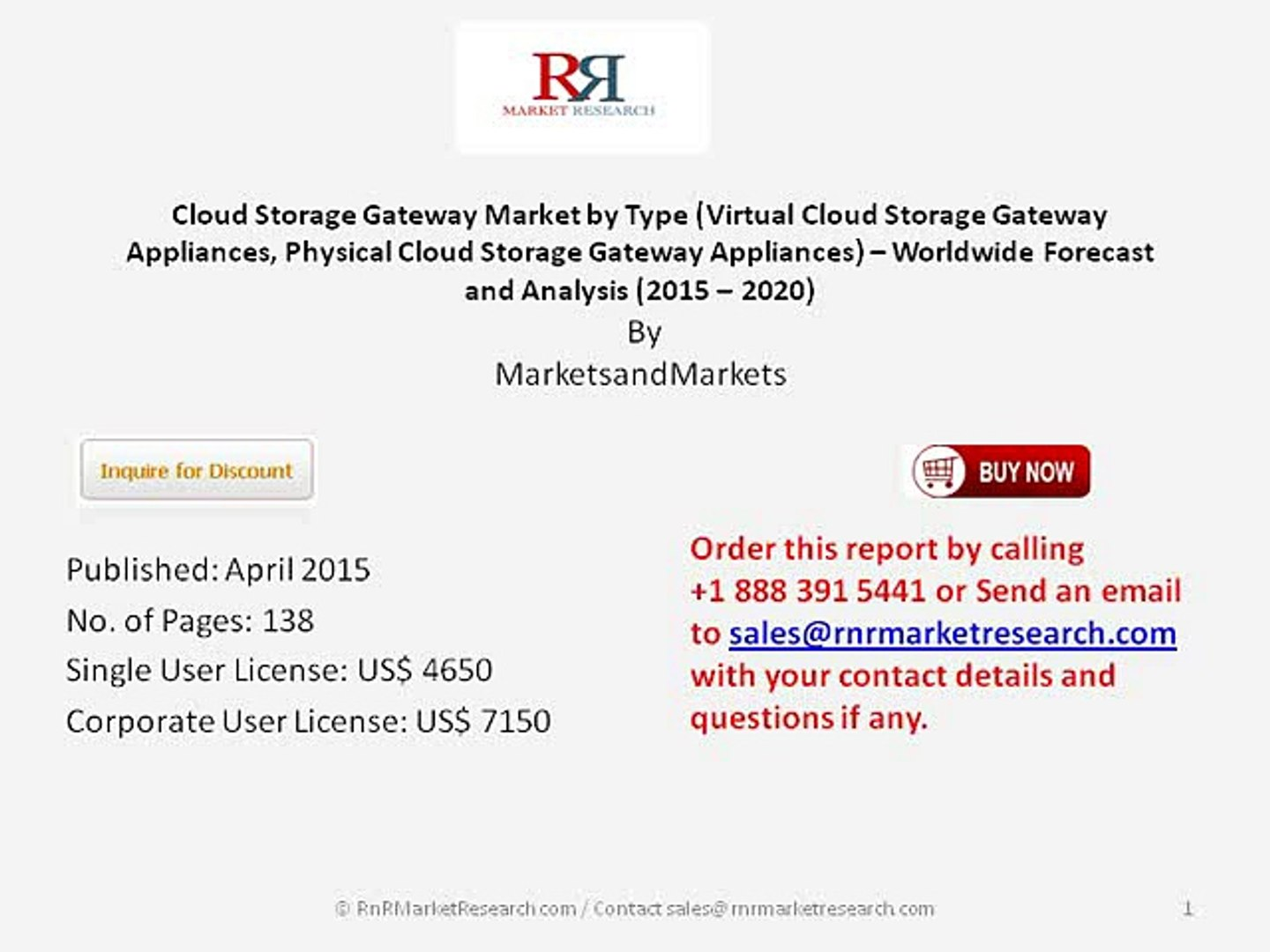 Global Cloud Storage Gateway Market 2020 by market Share and Key Players