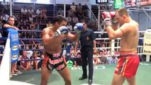 Dale (Tiger Muay Thai) goes to war with much larger opponent @ Bangla Thai Boxing Stadium
