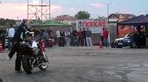 Auto Moto Show Larissa 2009 Drift and stunts with bike