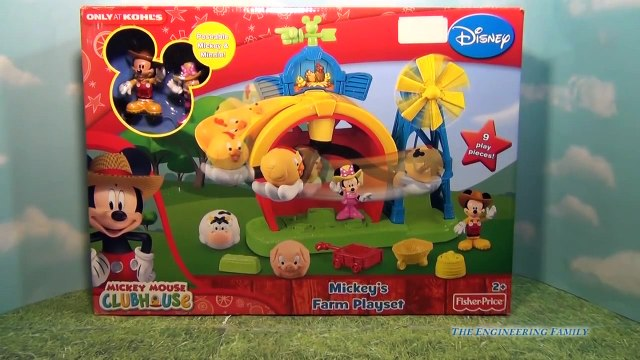 MICKEY MOUSE CLUBHOUSE Disney Junior Mickey's Farm Play Set with Minnie Mouse Toy