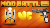 PORTAL MOD vs GUN MOD - MOD vs MOD - MINECRAFT MOD BATTLES (Ep. 2)