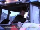 Container transport door Van Lier - Van der Lans Containers met de New Holland TVT 190