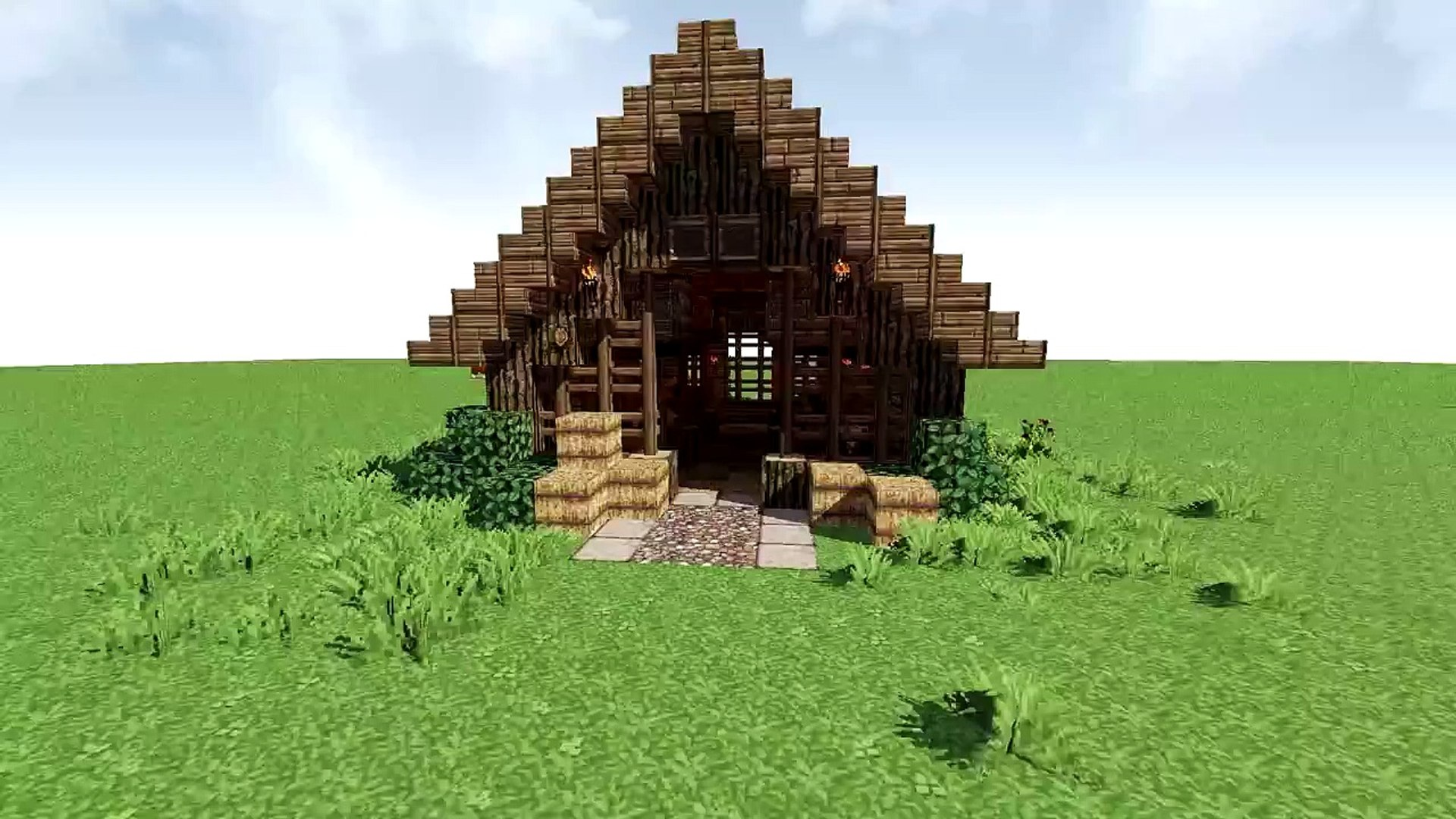 How To Build A Horse Stable Or Barn Minecraft Tutorial