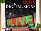 Olive LED Signs 3 Color (RGY) 15 x 40 - Storefront Message Board Programmable Scrolling Display