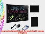 Best Choice Products? 31x23 Flashing Illuminated Erasable Neon LED Message Menu Sign Writing