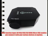 Amoker UC30 100 150 Lumens HDMI Portable Mini LED Projector Home Cinema Theater AV/VGA/USB/SD/Micro