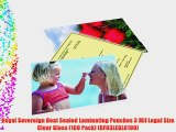 Royal Sovereign Heat Sealed Laminating Pouches 3 Mil Legal Size Clear Gloss (100 Pack) (RF03LEGL0100)