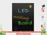 Pyle PLWB6080 Erasable Illuminated Flashing LED Writing Board with Remote Control and 8 Fluorescent