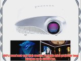 Rienar?LED Mini Projector Fashionable Home Theater Support HD Video Games TV Movie TXT Music