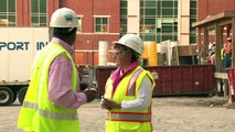 Construction Workers Wear Pink Hard Hats for Breast Cancer Awareness