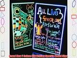 AGPtek? 16x12 Flashing Illuminated Erasable Neon LED Message Writing Board Menu Sign (7 Colors