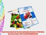 Royal Sovereign Heat Sealed Laminating Pouches 10 Mil Menu Size Clear Gloss (100 Pack)(RF10MENU0100)