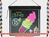 FlashingBoards 17 X 17 LED Illuminated Erasable Neon Message Writing Board/Sign