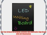 16x24 Flashing Illuminated Erasable Neon LED Writing Board Menu Sign with Remote Control and