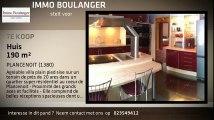 Te koop - Huis - PLANCENOIT (1380) - 190m²