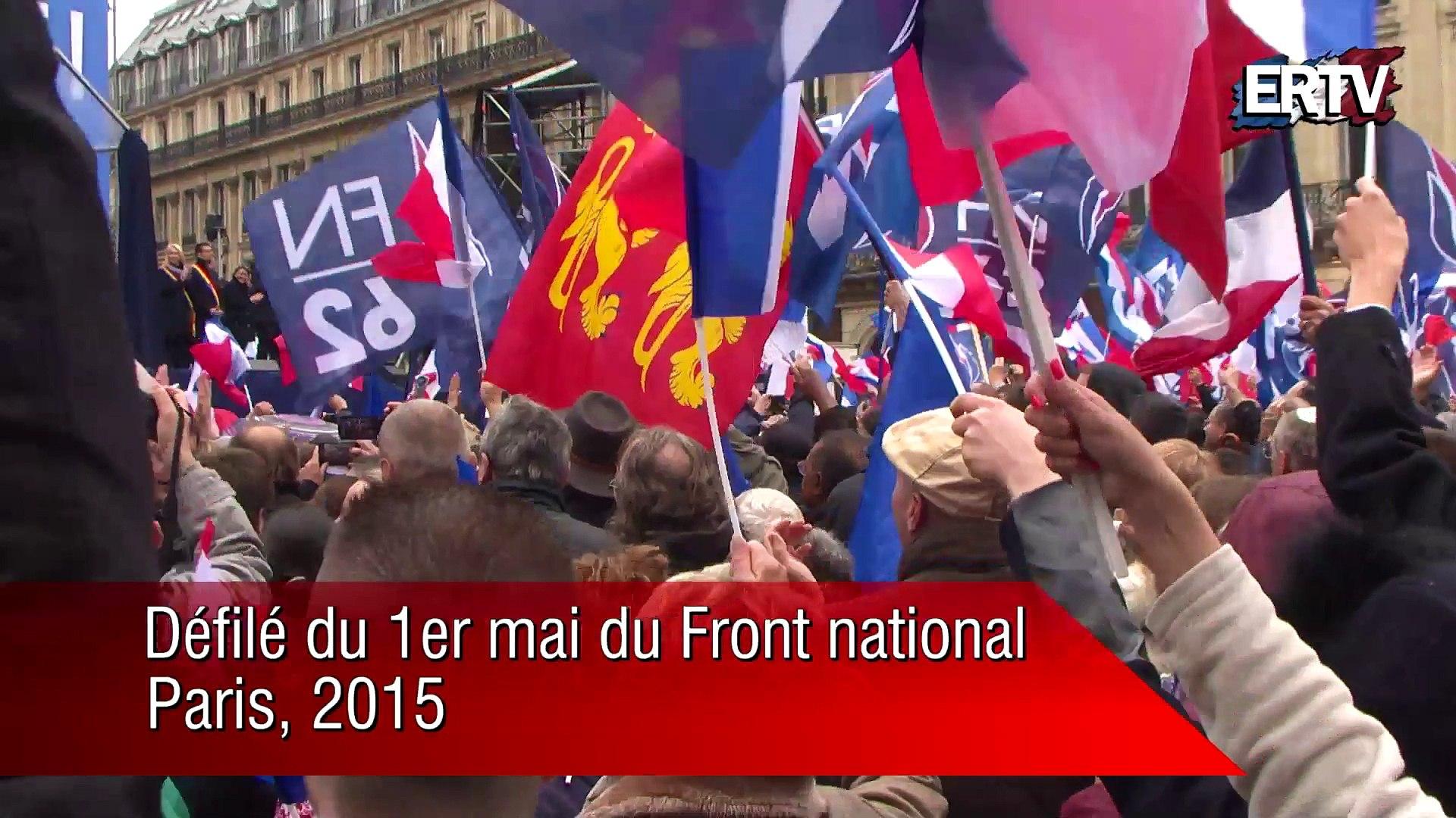Les Femen au défilé d'hommage à Jeanne d'Arc du Front national – 1er mai 2015