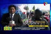 Arequipa: continúan enfrentamientos por proyecto Tía María