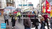 Les défilés du 1er mai à Troyes et Romilly-sur-Seine