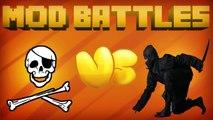 NINJA MOD vs PIRATES MOD - Mod vs Mod - MINECRAFT MOD BATTLES (Ep. 4)