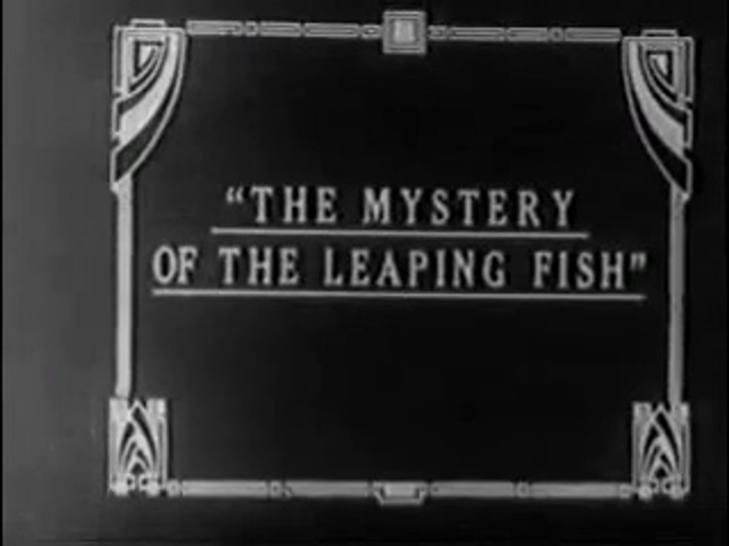 The Mystery of the Leaping Fish (1916)