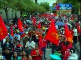 Cuenca vivió con normalidad jornadas a favor  y en contra del gobierno