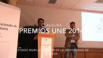 Premios UNE 2014. Clausura rector Universidad de Burgos