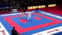 Ko Matsuhisa vs Stefan Pokorny. Bronze Male Kumite -75kg. 21st WKF World Karate Championships 2012