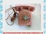BELL SYSTEM BLACK ROTARY PHONE MODEL 500DM DATE 7/76