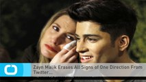 Zayn Malik Erases All Signs of One Direction From Twitter...