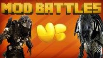 ALIEN MOD vs PREDATOR MOD - Mod vs Mod - MINECRAFT MOD BATTLES (Ep. 6) PART 2