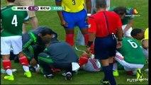 Terrible fractura de Luis Montes - México vs Ecuador 3-1 Futbol Amistoso [31/05/14]