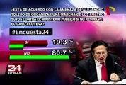 Encuesta 24: 80.7% rechaza amenaza de Toledo de nueva Marcha de los Cuatro Suyos