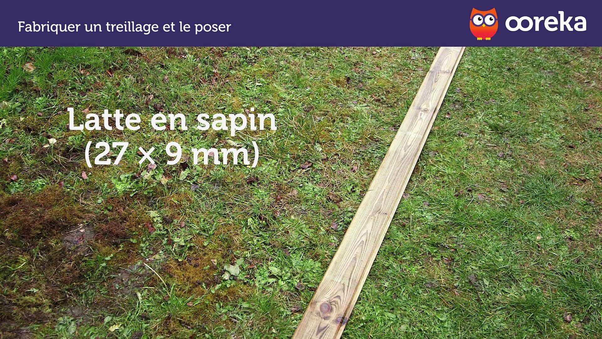 Fabriquer Treillis Bois Pour Plantes Grimpantes comment fabriquer un treillage et le poser (ooreka.fr)