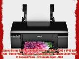 Epson Stylus Photo T50 Inkjet Printer - Color - 5760 x 1440 dpi Print - Photo Print - Desktop