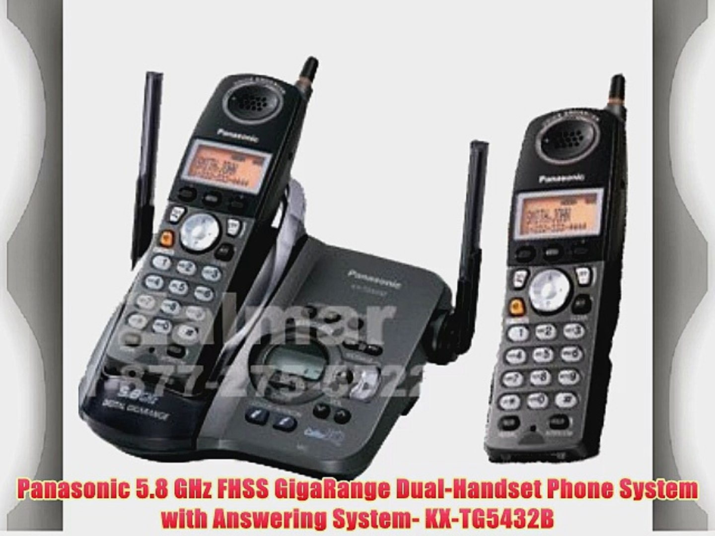 Panasonic KX-TG5110M 5.8 GHz DSS Expandable Cordless Phone with Answering System and Dual Handsets