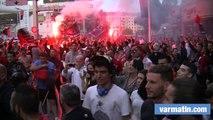 Les supporters en folie à Toulon après la victoire du RCT