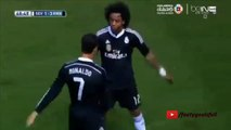 Real Madrid: Marcelo no anota pero celebra al estilo de Cristiano Ronaldo