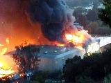 Universal Studios Fire lot BUILDING COLLAPSES 060108