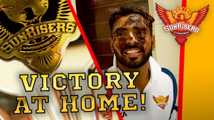 The sweet taste of victory: Celebrations after a historic home win against CSK!