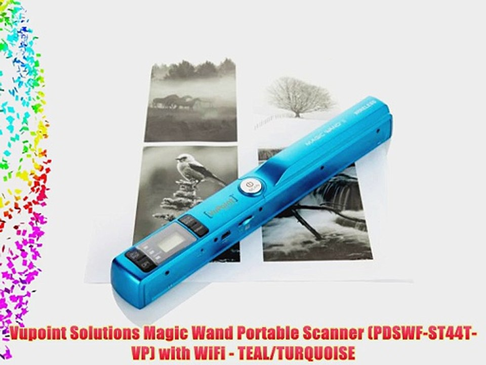 RED PDSWF-ST44-VP with WiFi Vupoint Solutions Magic Wand Portable Scanner