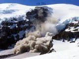 Huge rockfall on Mount Rainier