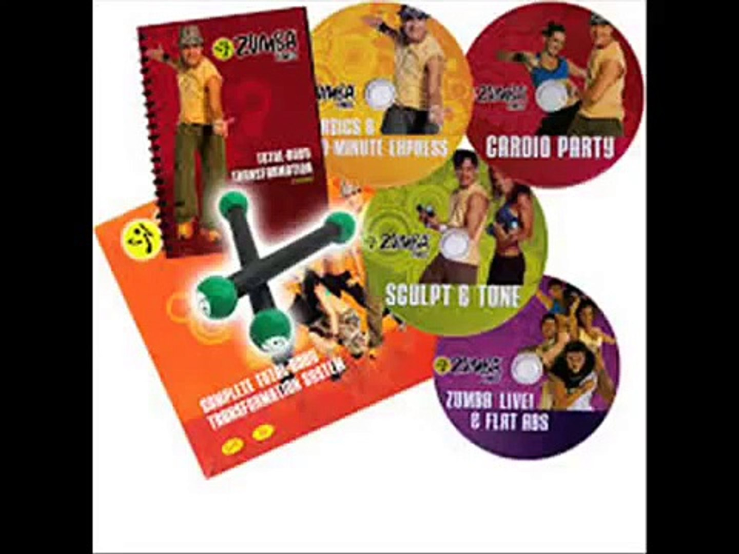 Zumba Fitness Sculpt and Tone DVD WITH 1LB Toning Sticks
