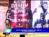 UFC's Overeem shows off skills in open workout